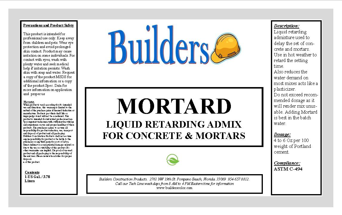 Admix Products for Concrete and Mortars